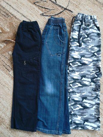 Spodnie chłopięce 128,cena za zestaw