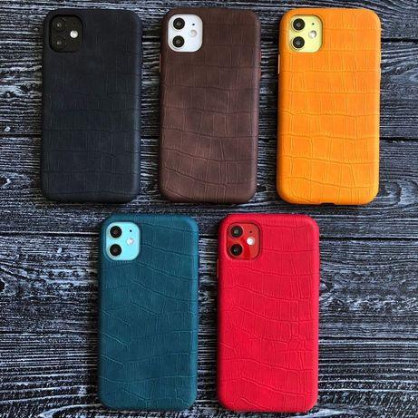 Leather Case IPhone Кожаный чехол Айфон 7 8 Plus X XR Xs Max 11 Pro 12
