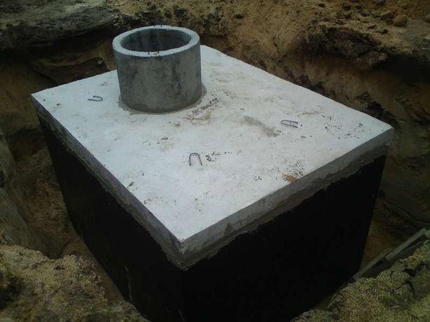 Zbiornik betonowy na szambo, Szamba betonowe, Zbiorniki na deszczówkę
