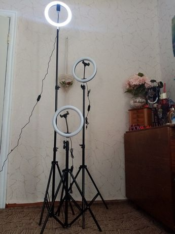 Светодиодная led лампа usb 26см для селфи с штативом 2,1  монопод led