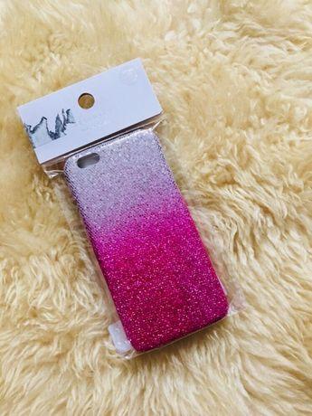 Etui iPhone 6/6s nowe różowe błyszczące w błyskotki
