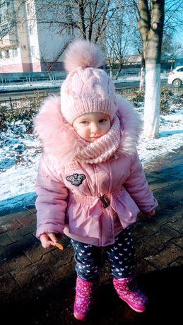 Зимняя курточка и штаны полукомбез