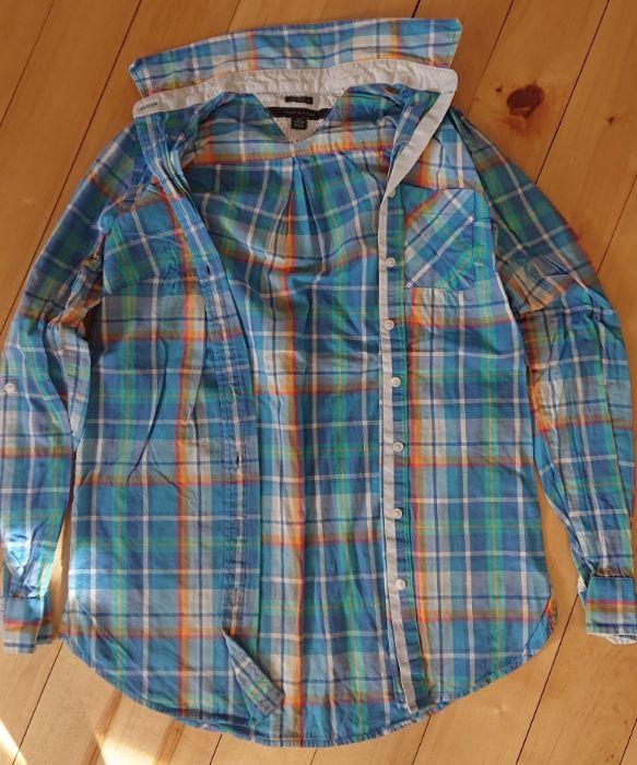 koszula krata kolorowa błękit elegancka Tommy Hilfiger xxs xs