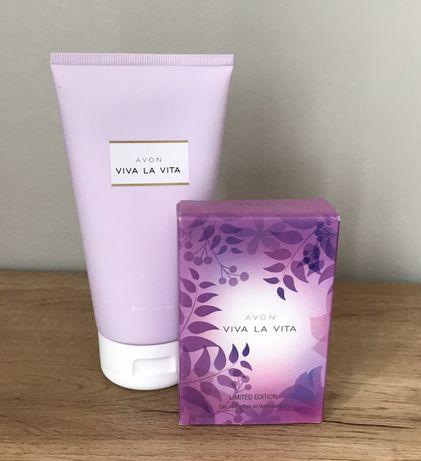 Avon Viva La Vita 30 ml perfumy nowe piekne i balsam