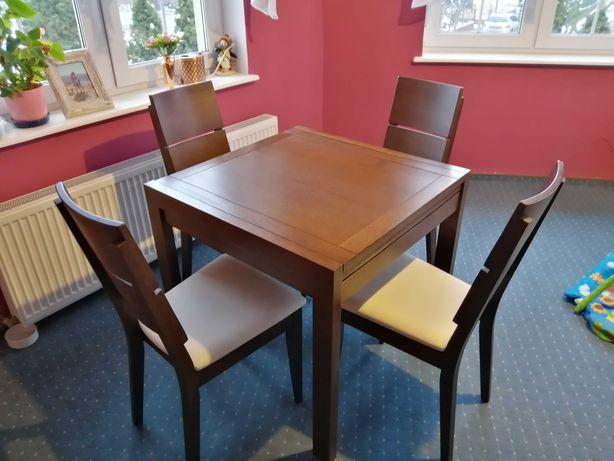 Stół drewniany funkcja rozkładania. Producent Matkowski meble