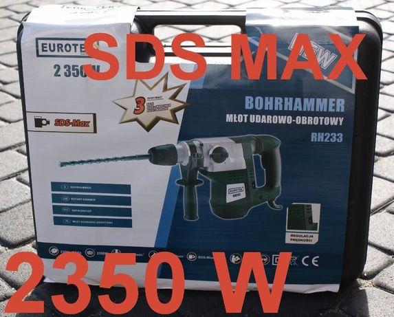 Młot udarowy SDS MAX 2350W +DŁUTA WALIZKA młotowiertarka