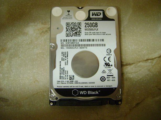 Dysk twardy wd black 250 GB 7200 obr./min. 2,5 cala