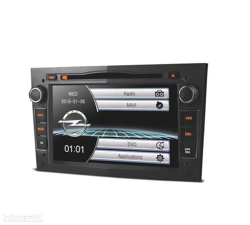 """AUTO RADIO 2DIN OPEL USB GPS TACTIL HD 7"""" PRETO ESCURO"""