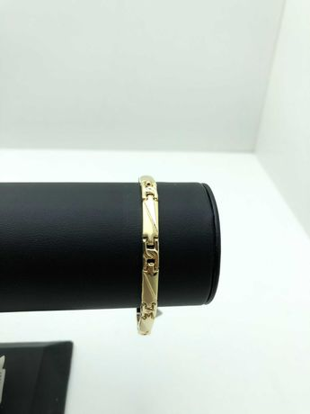 Złota wyjątkowa bransoletka 6,74g 585 LOM95