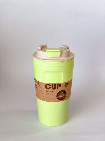 Кружка для кофе. Бамбукова еко кружка. Подарунок до св. Миколая.