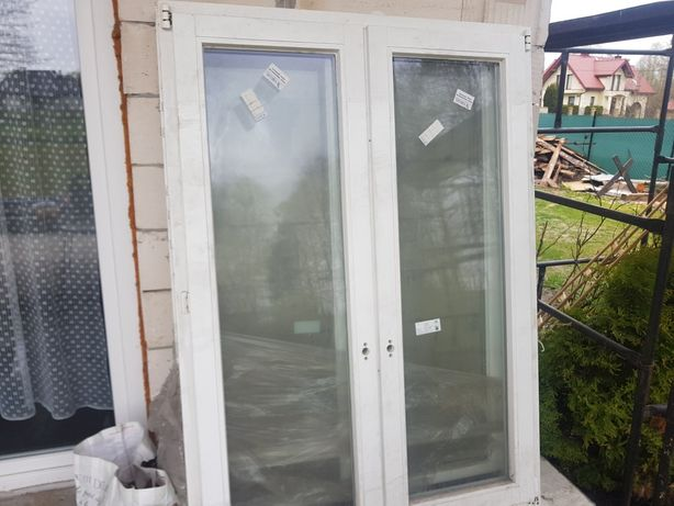 Okna drewniane stan nowe 2szt
