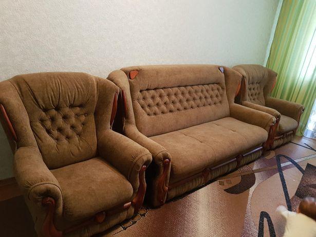 """Диван-ліжко """"Фаворит"""" 2х-спал., два крісла нерозкладні"""