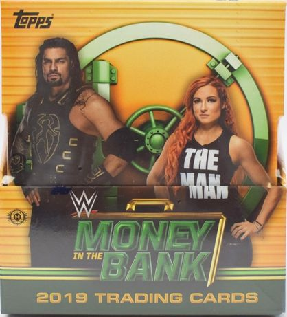 2019 Topps WWE Money in the Bank Wrestling Hobby Box zafoliowany