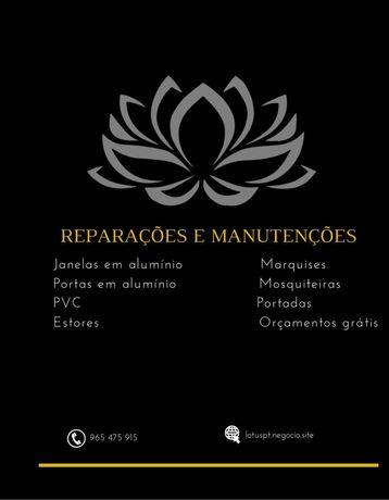 Lotus Manutenção e Reparação  Estores Janelas Portas de Alumínio e PVC