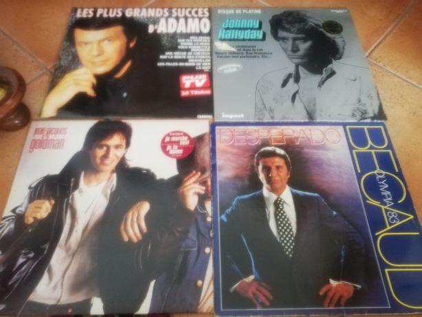 Discos vinil. 4 LPs clássicos música francesa
