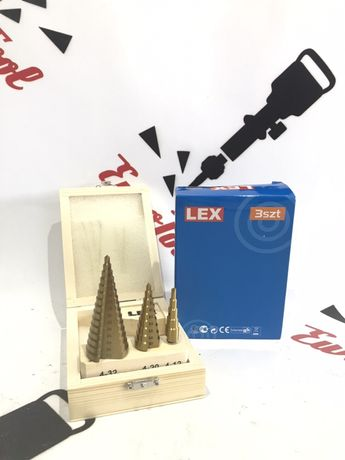 Ступенчатые сверла Lex 4-32мм 3шт Германия