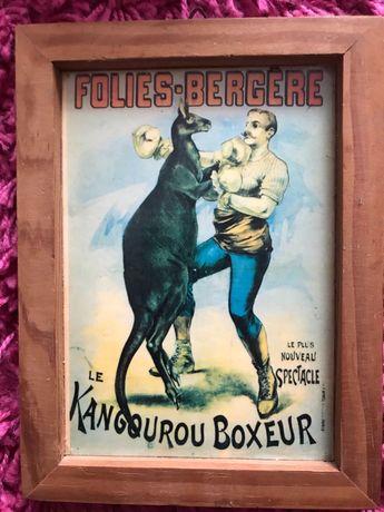 Poster miniatura antigo circo Folies Bergere