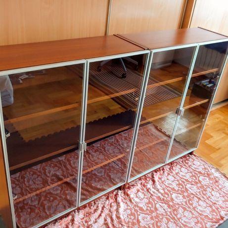 Witryny Billy/Morliden (zestawy regały z drzwiczkami) IKEA – 2 szt.