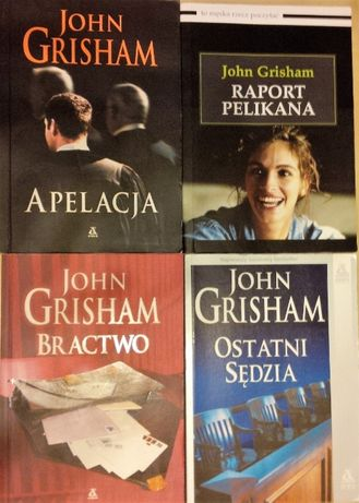 John Grisham książki kolekcja 4 kryminałów: Raport Pelikana, Bractwo..