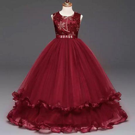 Платье детское выпускное бальное новое в наличии красное бордовое