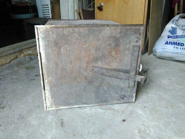 духовка   металлическая  с дверцей и задвижкой для печного отопления