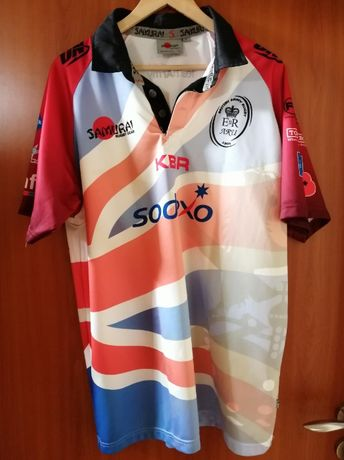 SAMURAI British Army Rugby Shirt Mens XL Bluza Koszulka turniejowa