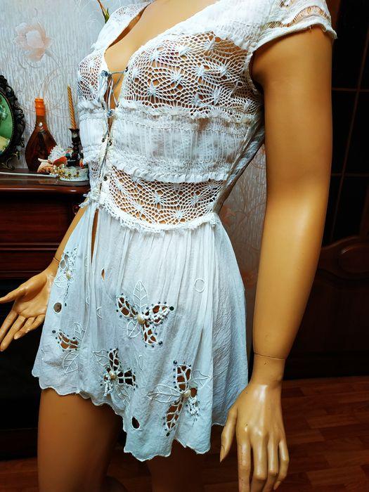 Шикарна блузка зі стразами на шнуровці блуза Сумы - изображение 1