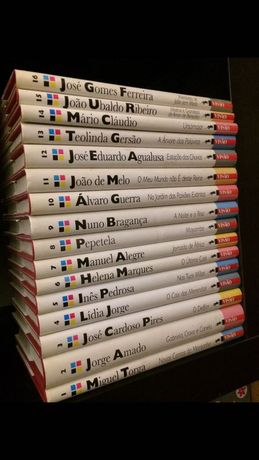 16 Livros coleção autores de língua portuguesa 2€/cada – conjunto