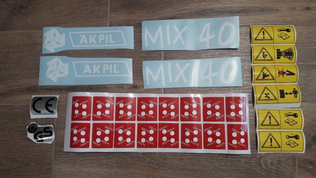 Naklejki pług Akpil MIX 40