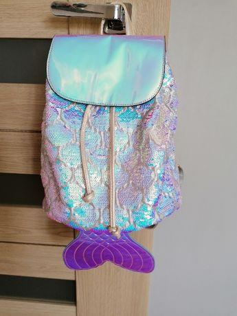 Plecak dziewczęcy z cekinami syrenka nowy