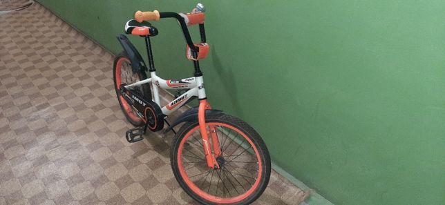 """Велосипед Azimut Fiber 20"""" Оранжевый"""