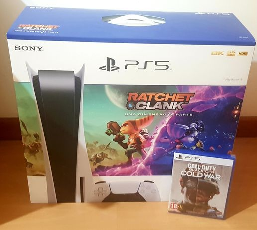 SELADA Consola PS5 Standart + Ratched & Clank + Call of Duty Black Ops