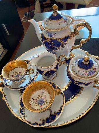 Serviço de cafe Tete-a-tete porcela de portugal