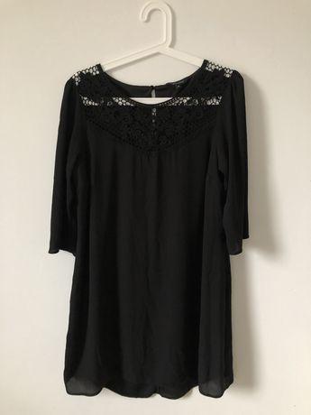 Sukienka mgiełka czarna ażurowa