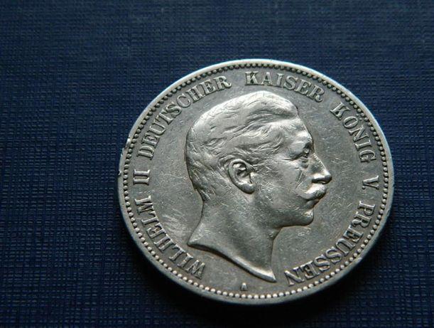 5 марок 1902 год, 1908 год = две монеты одним лотом