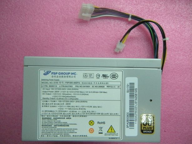 Zasilacz ATX FSP280-40EPA 14pin 280W lenovo ThinkCentre