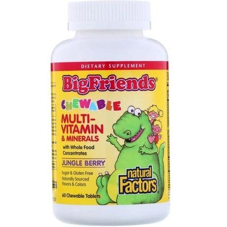 Natural Factors мультивитаминный комплекс с минералами для детей. 60 ш