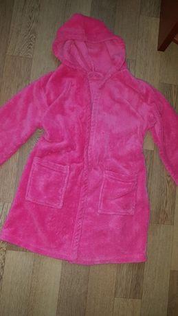 Теплый и яркий халат из велсофта на 5-6-7 лет
