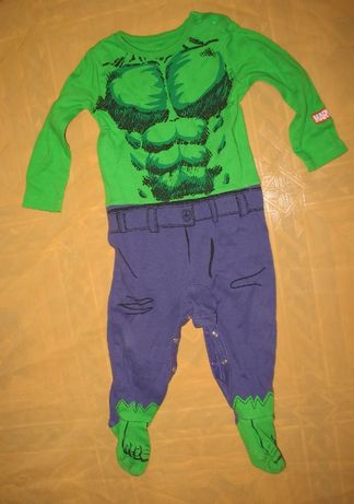карнавальный новогодний костюм человечек на малыша Халка на год
