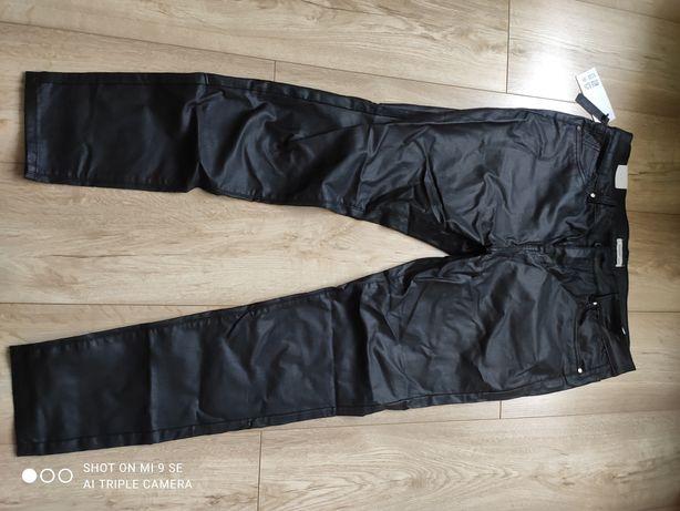Spodnie woskowane eko skóra Nowe z metką karko r. 48