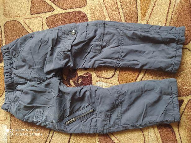 Зимние теплые штаны брюки на флисе плащевка