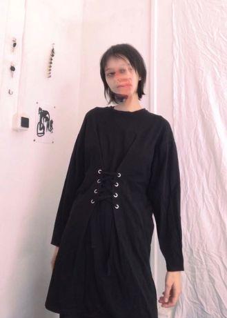 Платье со шнуровкой Mango