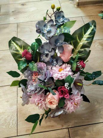 Stroik nagrobny, bukiet, kwiaty sztuczne