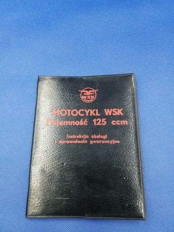 Instrukcja obsługi WSK 125 PRL plus dodatki 1976r. Bardzo ładna