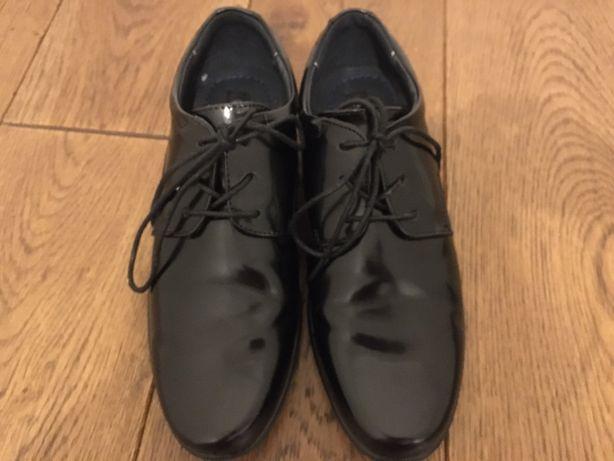 Buty lakierki komunijne eleganckie dla chłopca, do garnituru, 37