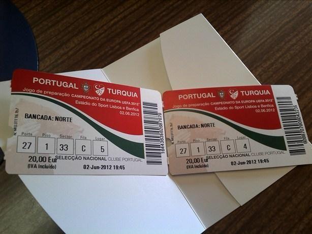 Bilhetes de Futebol para colecionadores (seleção, liga)