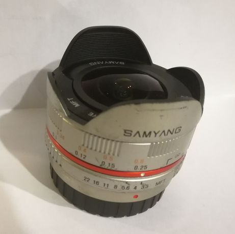 Samyang 7,5mm rybie oko (fish eye) do Olympus, Panasonic