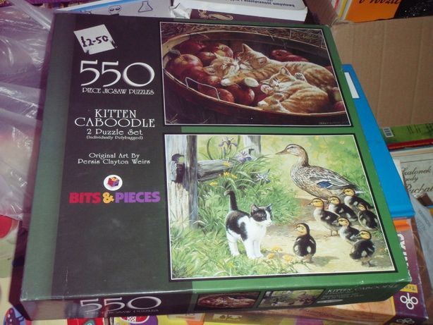 Puzzle 2x550 Przygody MAŁYCH KOTKÓW - urocze