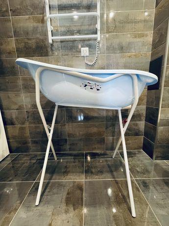 Набор: детская ванночка + горка для купания + подставка под ванночку