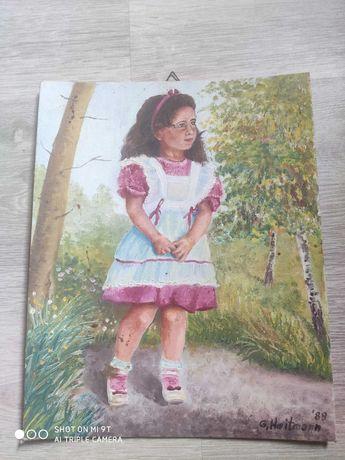 Obraz dziewczyna w lesie